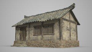 single room ancient 3D model