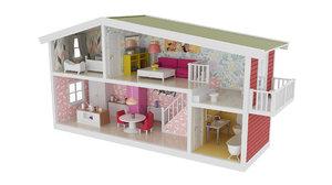 childrens dollhouse 3D model