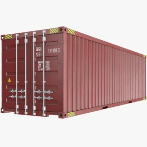 real shipping container 3D model