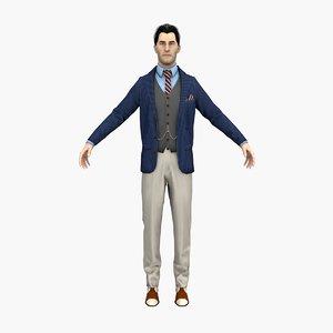 conman man 3D model