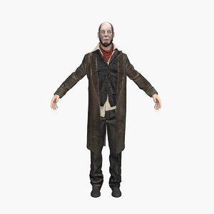 3D butler man