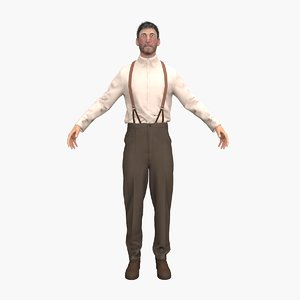 3D man male character