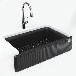 kohler kitchen cairn sink 3D