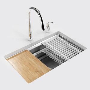 kohler prolific kitchen sink 3D model
