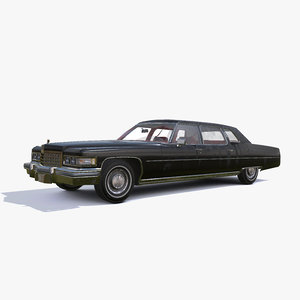 1976 cadillac limo 3D model
