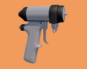 3D foam gun model