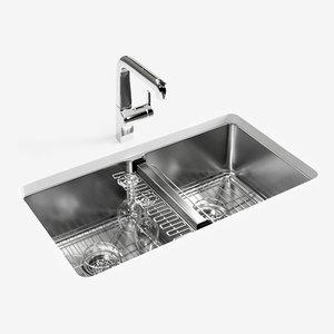 kohler strive kitchen sink 3D