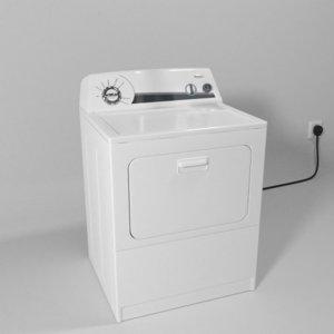 whirlpool dryer 3D model