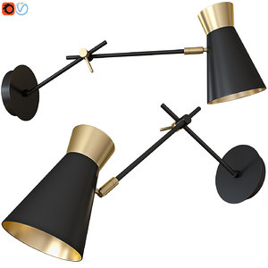 3D sconce wall lamp lumion model