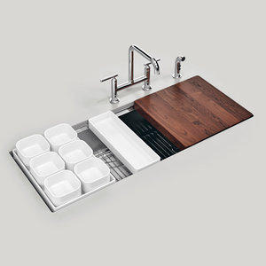 3D kohler stages 45 sink