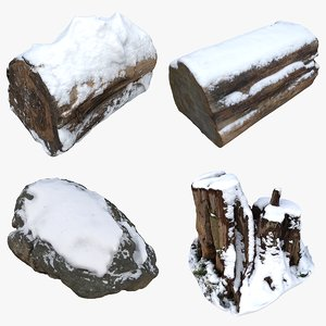 nature snow 3D model