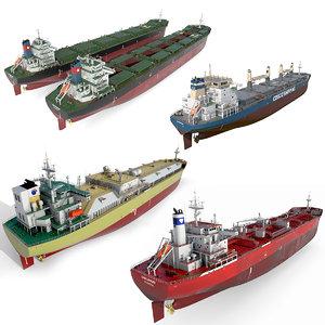 ships bulk carrier 3D