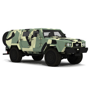 military vehicle 3D