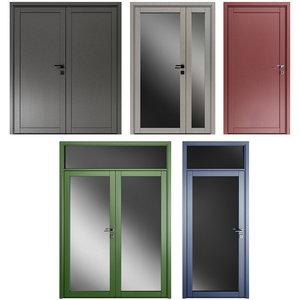 metal swing doors 3D model