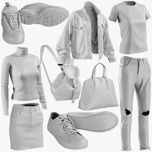 3D mesh clothing mix 13