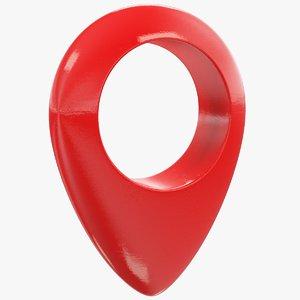 3D geo tag symbol model
