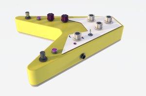 3D guitar pedal model