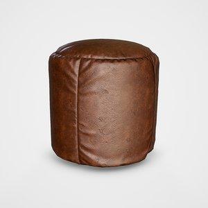 3D pouf stool - pbr