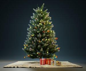 christmass tree decoration 3D model