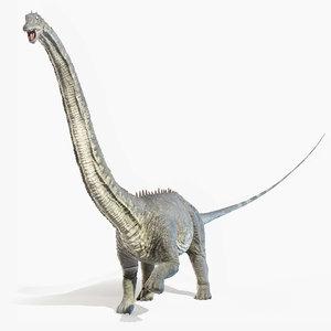3D diplodocus model