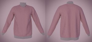 sweater outfit turtleneck 3D model