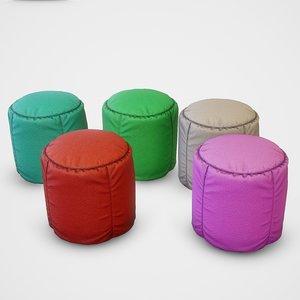 pouf stool colors - model