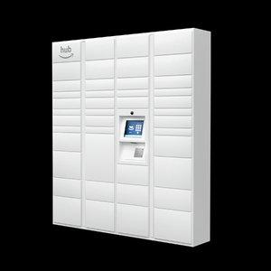 apartments amazon hub locker 3D