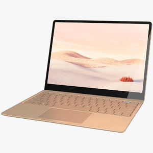 realistic microsoft surface laptop 3D model