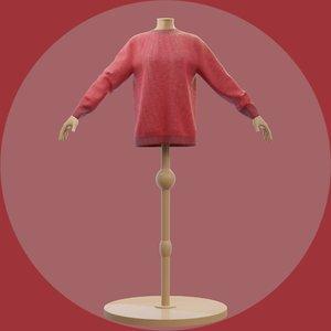 3D model sweater mannequin