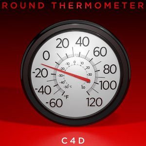 thermometer temperature fahrenheit 3D model