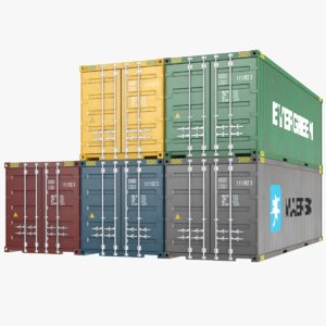 real shipping containers 3D model