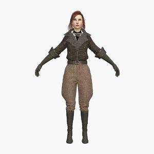 woman explorer 3D