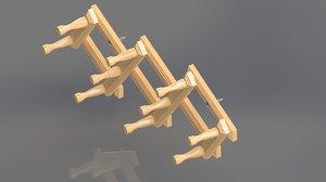 3D model wall hanger