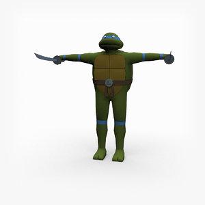 3D rigged leonardo leo