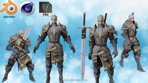 3D content warrior medieval