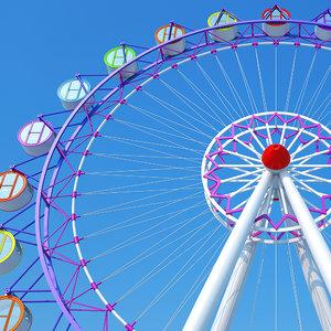 ferris wheel amusement 3D model