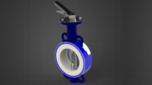 3D butterfly valve