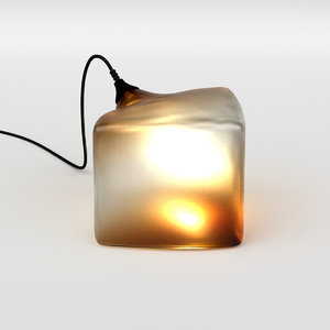 3D cubo lamp model