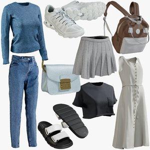 realistic clothing mix 14 model