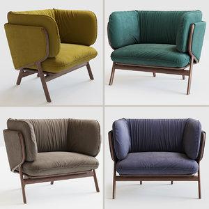 3D stanley armchair 102s model