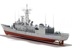 3D oliver hazard perry class model