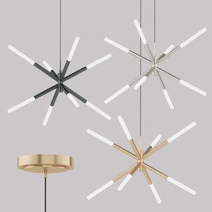 wanda led chandelier pendant light 3D model