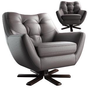 armchair chair boss 3D