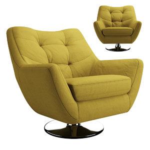 3D model armchair chair boss