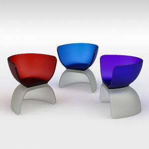 3D cast glass chair