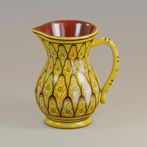 3D pitcher moroccan model