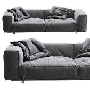 edra - sofa francesco 3D model