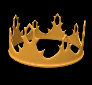 3D model fantasy crown