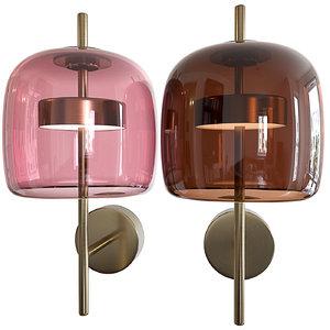 3D wall lamp sconce vetreria