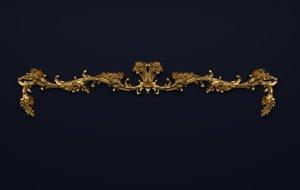 3D model molding decoration frame